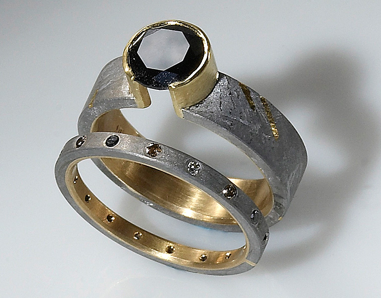 usa meteorite engagement meteor ring rings wedding